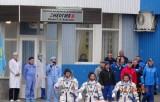 Выезда экипажа космонавтов на космодром