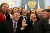 Студенты НИЕВ с Д.А. Медведевым