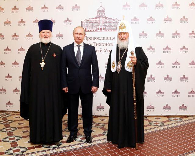 Президент В.В. Путин посетил главное здание ПСТГУ