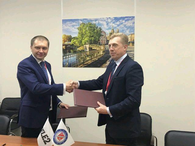 Подписание договора с ТЕЛЕ-2