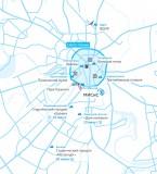 Схема расположения инфраструктуры
